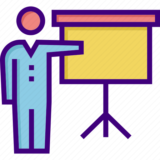 analysis, conference, lecture, lecturer, presentation, report, teacher icon
