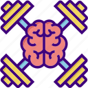 advancement, brain, braintraining, education, fitness, gym, training icon