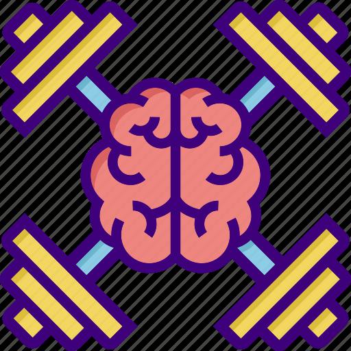 advancement, brain, braintraining, education, fitness, gym, training icon