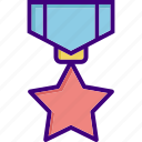 award, award badge, medal, prize, star, win, winner icon