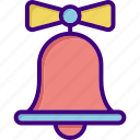 alert, bell, christmas, christmas bell, ring, school bell, wedding icon