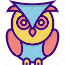 college, education, education owl, owl, school, university, wisdom icon