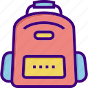 bag, bagpack, briefcase, luggage, school bag, student bag icon
