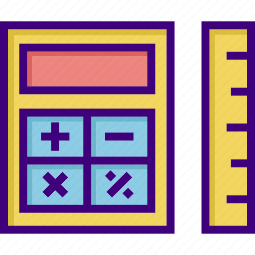 accounting, budget, calculate, calculation, calculator, math, ruler icon
