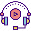audio, audio learning, course, learning, listen, music, play icon