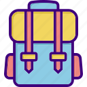 bag, bagpack, luggage, school bag, student bag, suitcase, travel icon