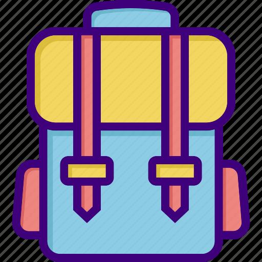 bag, bagpack, luggage, school bag, student bag, suitcase, travel icon