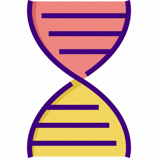biology, dna, dna strand, experiment, medical, research, science icon