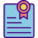 achievement, award, certificate, degree, diploma, education, graduation icon