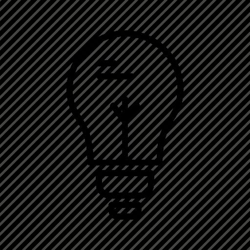 bulb, education, light, school icon
