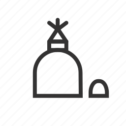 alcohol, education, experiment, lantern, science icon
