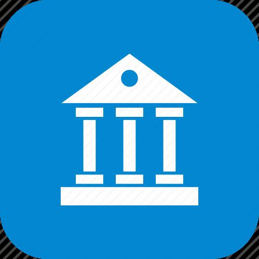 architecture, bank, building, educational, institute, school, university icon