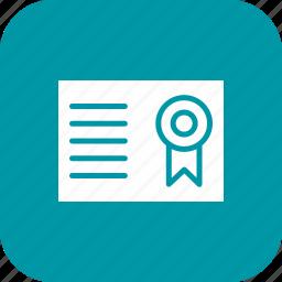 certification, degree, diploma, education, graduate, graduation icon