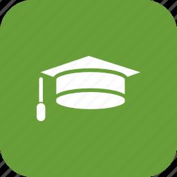 cap, degree, diploma, education, graduation icon