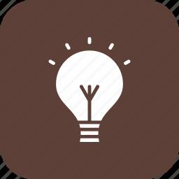 bulb, energy, idea, light, lightbulb icon