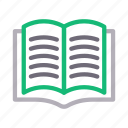 book, education, open, reading, studying icon