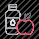 apple, bottle, drink, healthy, juice icon