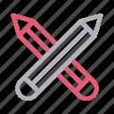 edit, education, pencil, stationary, write icon