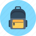 backpack, bag icon