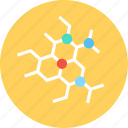 biology, cells, chemicals, science icon
