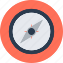 compass, location, tracing icon