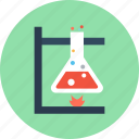 chemical, chemical reaction, flask, reaction, science icon