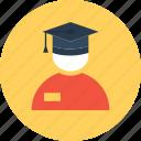 degree, graduate, graduation, school icon