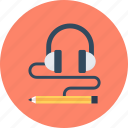headphones, music, relax icon