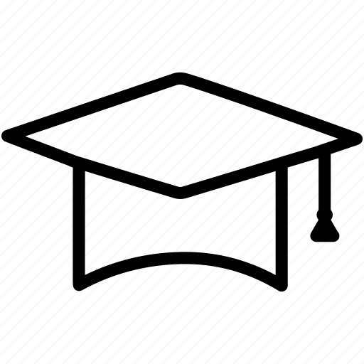 academics, cap, diploma, education, graduation, university icon