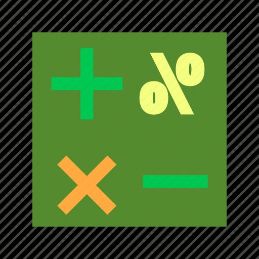 education, formula, math, mathematical, mathematics, school, science icon
