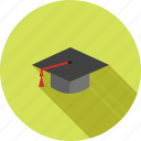 cap, ceremony, diploma, graduate, graduation, professor, students icon