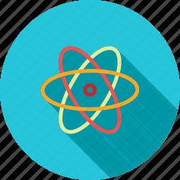 atom, biology, chemistry, laboratory, molecular structure, molecule, science icon