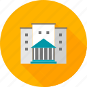 building, college, education, facility, institute, school, university icon