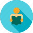 book, educate, education, graduate, read, student, study icon