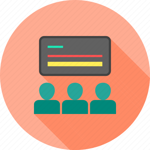 blackboard, classroom, lecture, school, students, teach, teacher icon