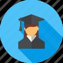 college, education, female, graduate, professor, student, university