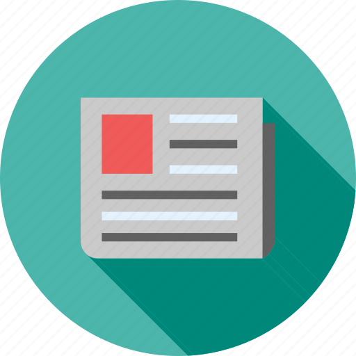 advertising, communication, information, media, newspaper, print, updates icon