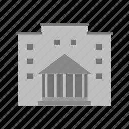 building, college, education, facility, institute, school, university icon