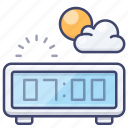 alarm, clock, morning, school icon