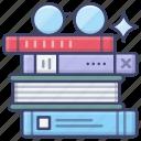 book, books, glasses, reading icon