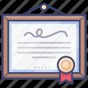 certificate, excellent, honor, merit icon