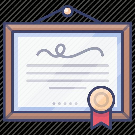 Honor, excellent, merit, certificate icon