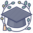 cap, degree, graduate, graduation icon