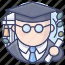 bachelor, graduate, graduation, master icon