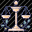 justice, law, regulations, school icon