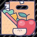 apple, food, lunch, school icon