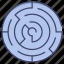 challenge, labyrinth, maze, solution icon