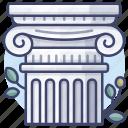 architecture, column, greek, pillar icon