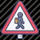 kids, road, school, sign icon