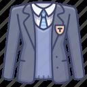 clothing, school, suit, uniform icon